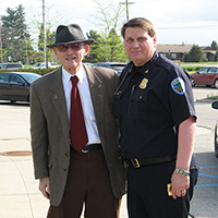 Chief Brookins with Lee Begole
